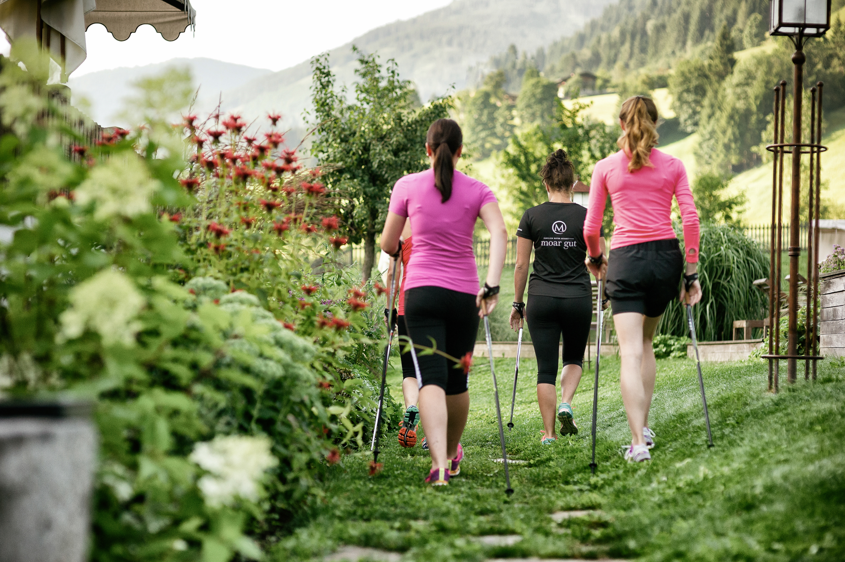 Nordic Walking im Hotel Moar Gut